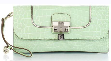 GUESS Yorkshire Flap Clutch Mint, Handtasche