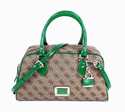 GUESS Shiri Box Satchel Emerald, Handtasche, Damen Handtasche