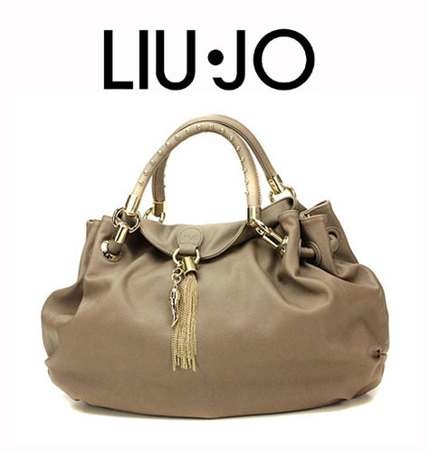 LIU JO Shopping M Sophia Satchel Light Wood, Handtasche Damentasche Henkeltasche