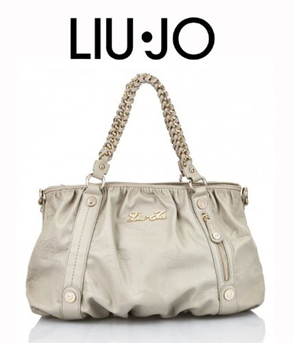 LIU JO Shopping M Kate Light Wood, Handtasche Damentasche Henkeltasche