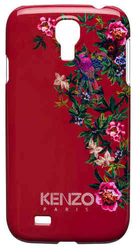 KENZO Handy Back Cover Exotic, Schutzcover Rot, Samsung S 4