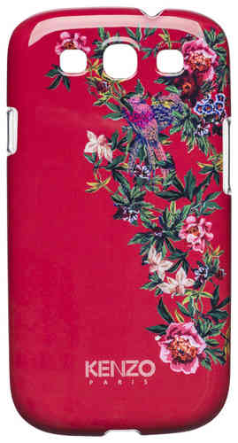 KENZO Handy Back Cover Exotic, Schutzcover Rot, Samsung S 3