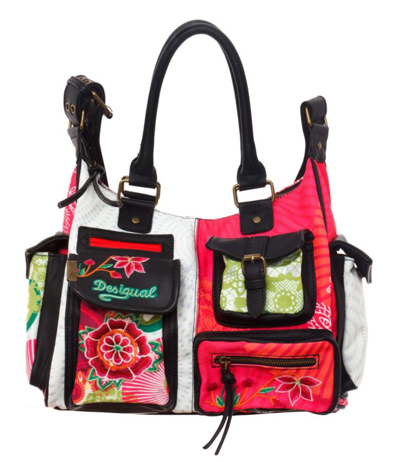 look for another chance exquisite design DESIGUAL Bols London Floreada, Damen Henkeltasche 41X5179