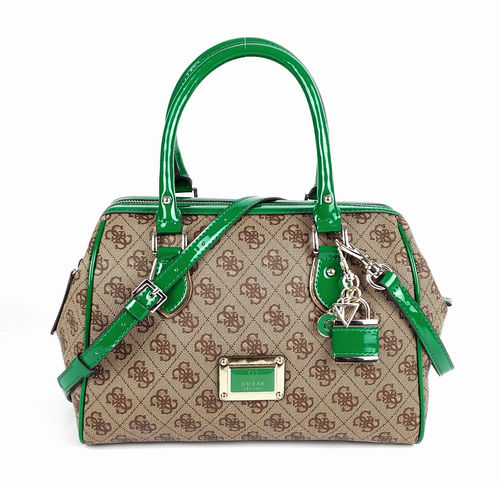 GUESS Shiri Frame Satchel Handtasche Damentasche Emerald