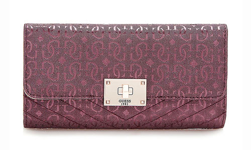 GUESS HALLEY Multi Clutch Bordeaux, Damen-Geldbörse Portemonnaie Wallet