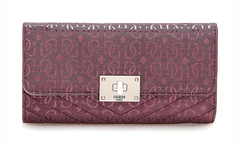 06a129afb064c GUESS HALLEY Multi Clutch Bordeaux