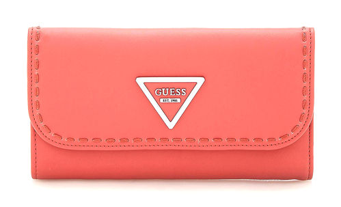 GUESS SAWYER Pocket Trifold Poppy, Damen-Geldbörse Portemonnaie Wallet