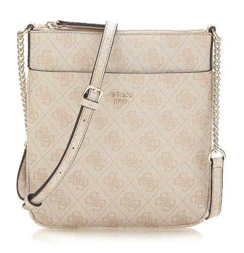 GUESS JOLEEN Mini Crossbody Top Zip Stone, Damentasche Umhängetasche Crossover