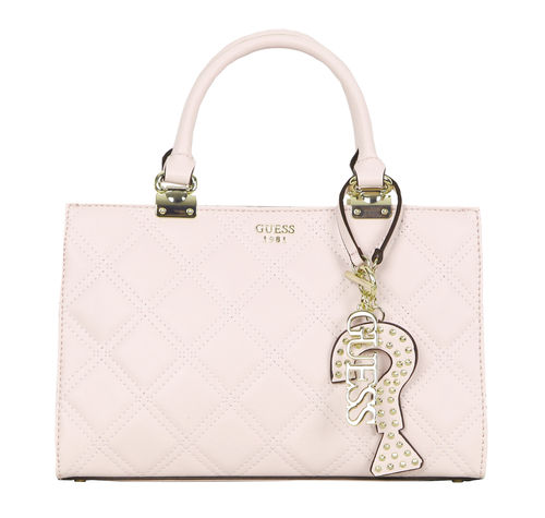 GUESS STATUS Girlfriend Satchel Rosa, Damentasche Handtasche Henkeltasche