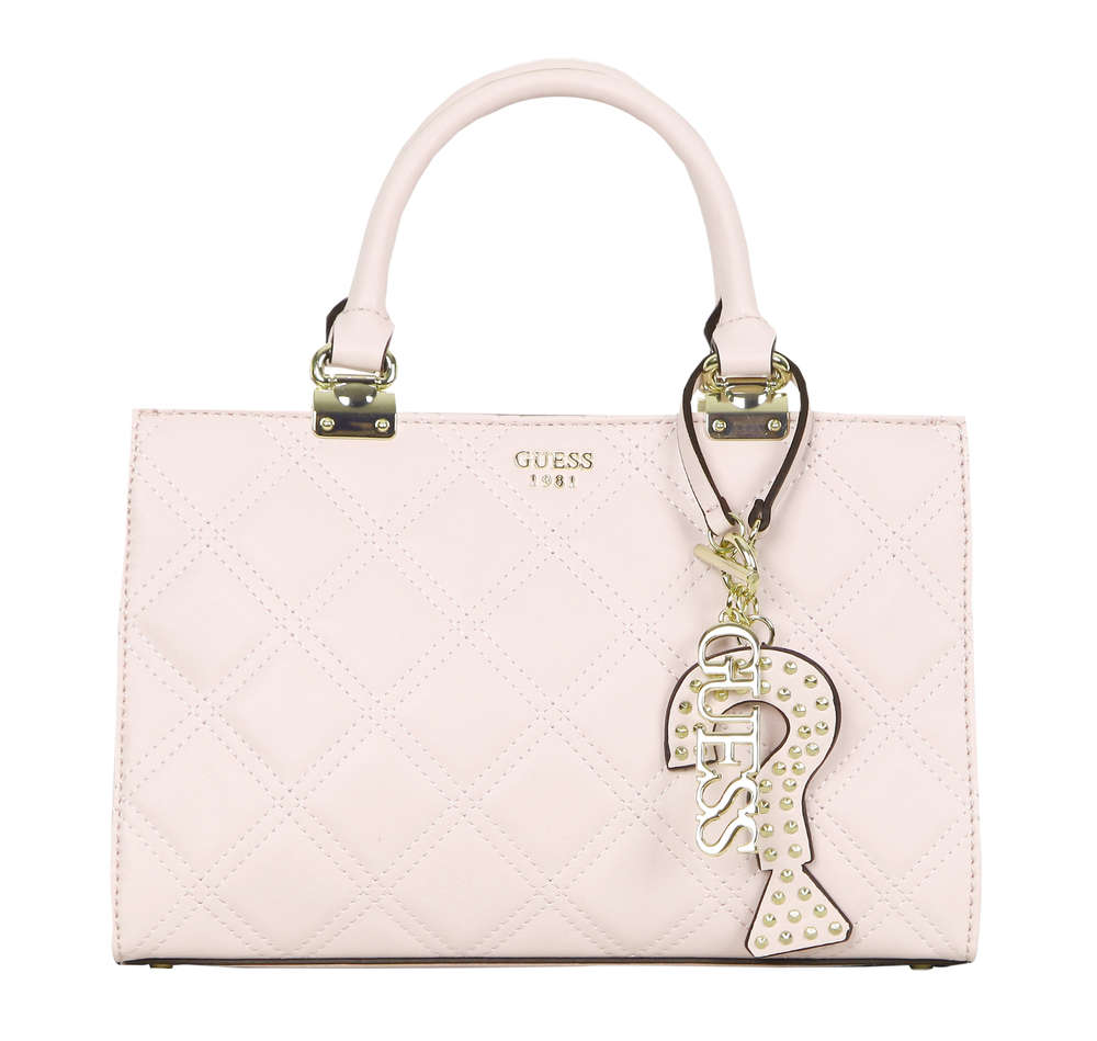571f1c9a91706 GUESS STATUS Girlfriend Satchel Rosa