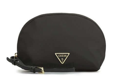 GUESS DID I SAY 90S? Dome Cosmetic Case Schwarz, Kosmetiktasche Beauty Case