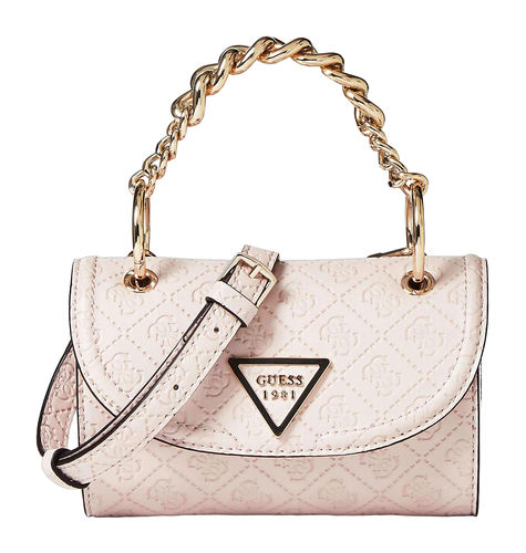 GUESS LYRA Mini Crossbody Flap Stone, Damentasche Umhängetasche Crossover