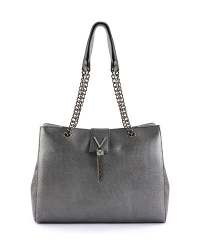 VALENTINO MARILYN Mini Shopping Anthrazit, Damentasche Umhängetasche Handbag