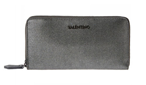 VALENTINO MARILYN Zip Around Anthrazit, Damen-Geldbörse Portemonnaie Wallet