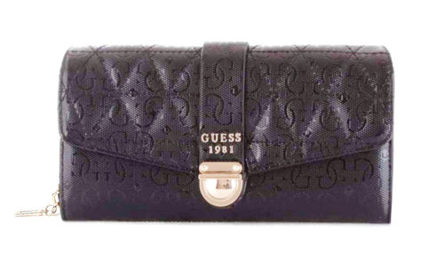 GUESS TABBI Large Clutch Organizer Schwarz, Damen-Geldbörse Brieftasche Wallet