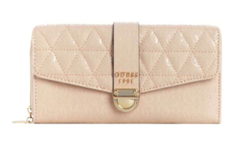 GUESS TABBI Large Clutch Organizer Rosa, Damen-Geldbörse Brieftasche Wallet