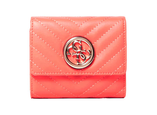GUESS BLAKELY Small Trifold Coral, Damen-Geldbörse Portemonnaie Wallet